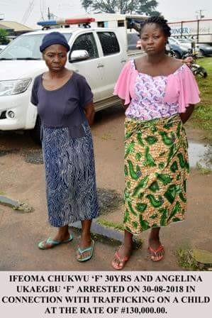 Photo: Imo Police arrest mother for selling her newborn baby for N130,000