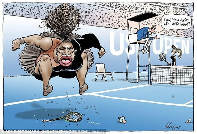 """It's Blatantly racist and misogynistic"" - Serena Williams' husband breaks his silence over the controversial Australian cartoon of the tennis star"