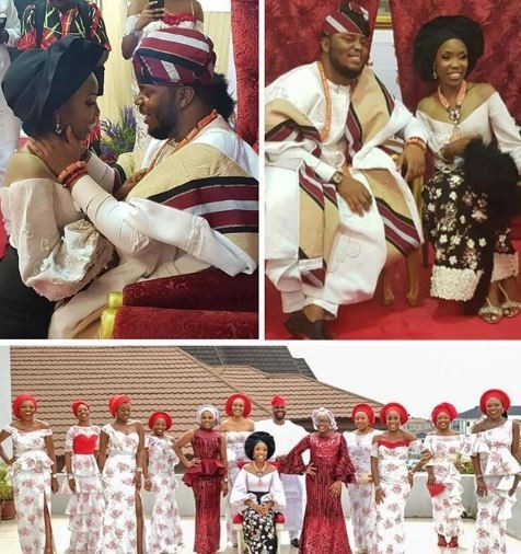 First photos from Lala Akindoju and Chef Fregene's traditional wedding in Lagos