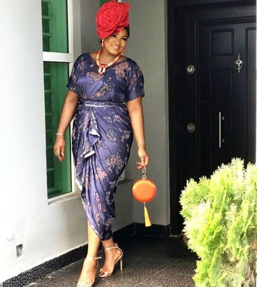 Photos: How Omotola, Shaffy Bello, Rita Dominic and others turned up for Lala Akindoju's traditional wedding