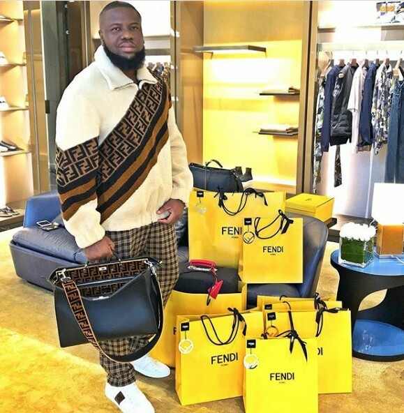 Hushpuppi shows of bags after big shopping spree