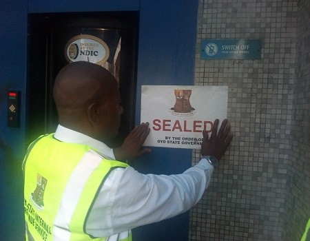 Over 10 banks are being sealed by Oyo State Government in Ibadan