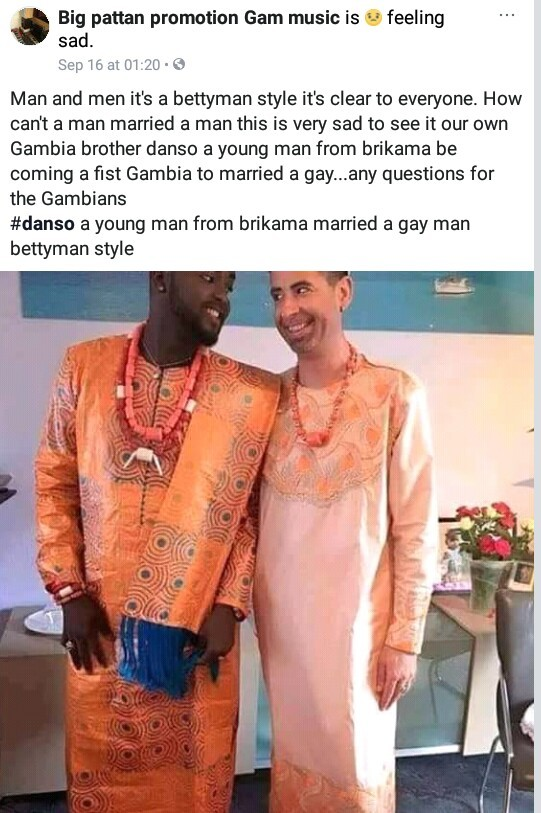 Photos: Europe-based man, Momodou Secka becomes the first Gambian gay to openly marry his partner