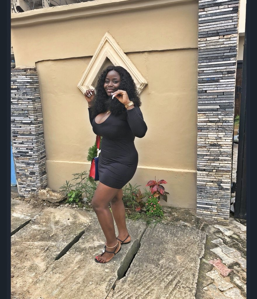 Busty Nigerian lady with 20k followers on Twitter says they are only following her because of her massive boobs (Photos)