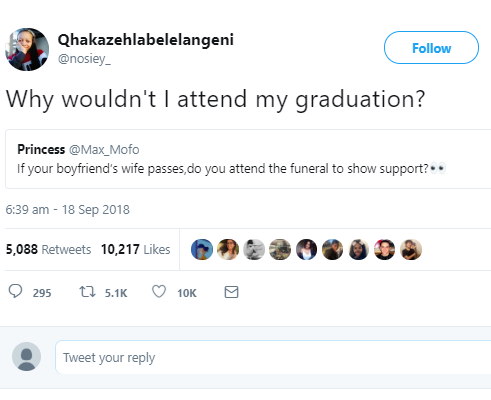 Lady gives unbelievable reply to a Twitter question and it