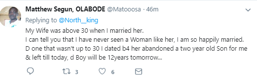 Man gets interesting replies after advising men against marrying women above 30