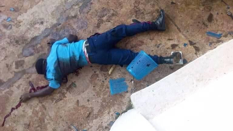 One killed as armed robbers attack Union Bank in Igede, Ekiti (Graphic Photos)