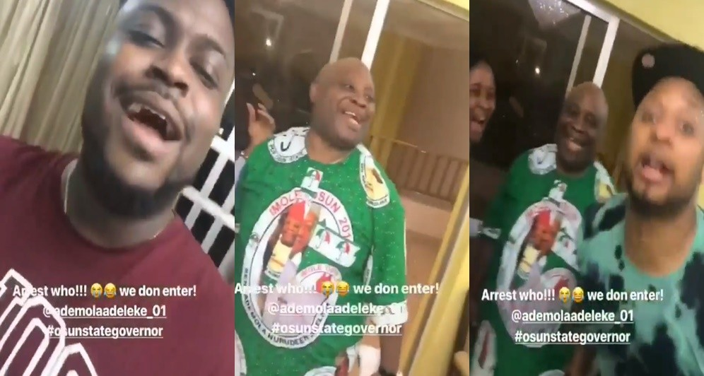 WAEC Malpractice: Senator Adeleke, his son, B-red and nephew, All dare the Nigeria police