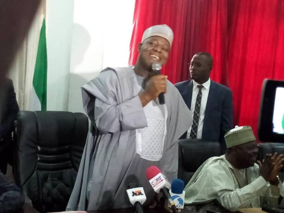 Photos: Speaker, Yakubu Dogara visits PDP secretariat to drop his nomination form