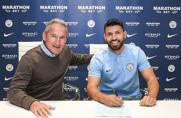 Manchester City record scorer Sergio Aguero signs new ?220,000-a-week contract