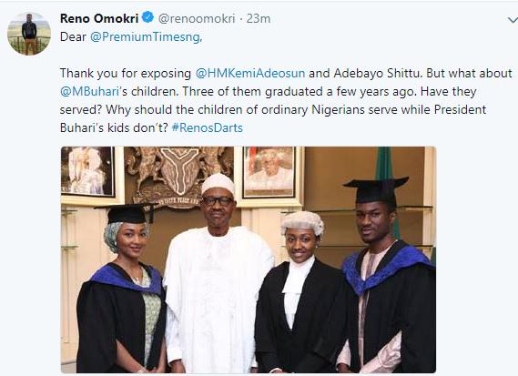 Reno Omokri calls for an investigation into whether Buhari