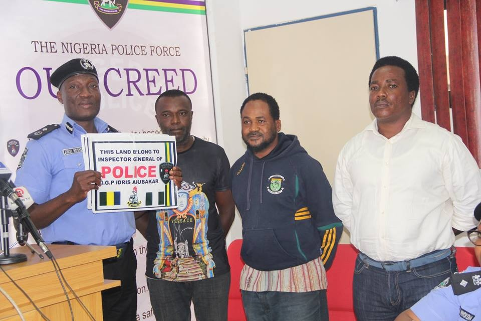 Nigerian police parades three suspects impersonating the IG, Ibrahim Idris
