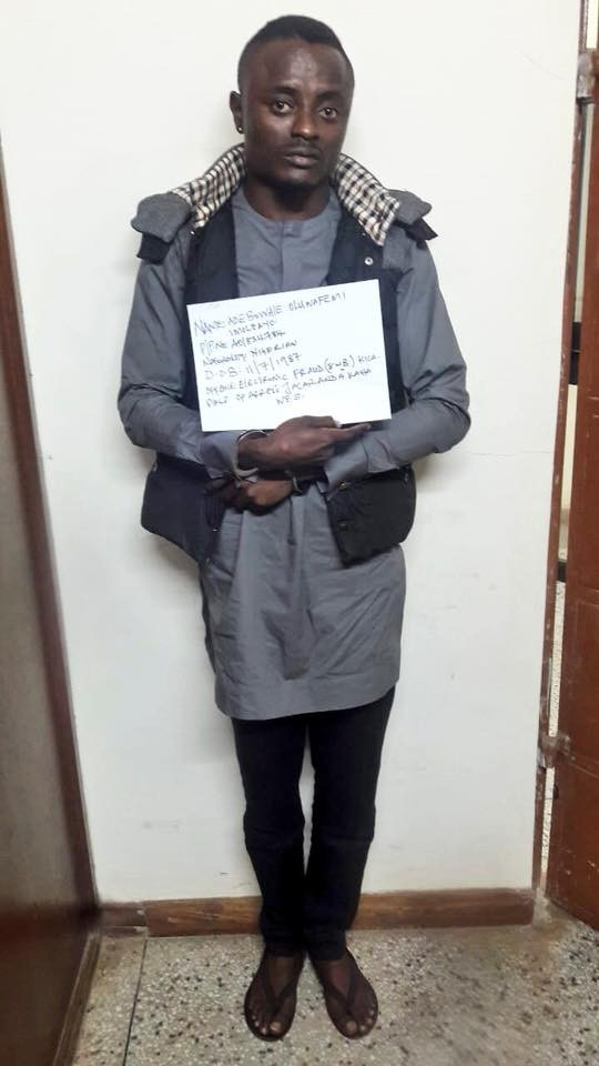 Suspected Nigerian fraudster arrested in Kenya burst into tears (Photos)