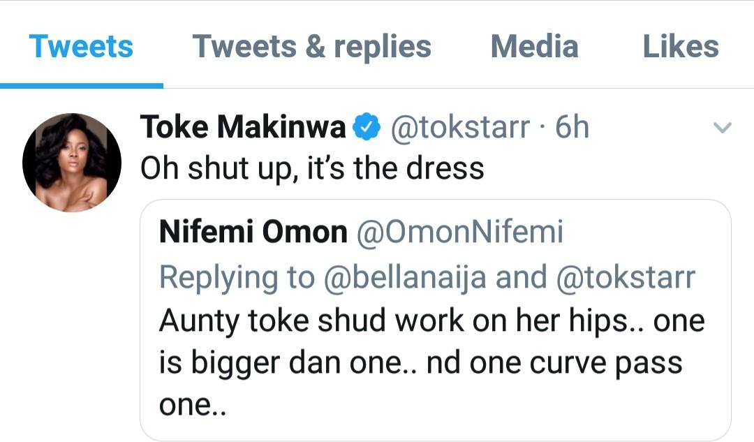 See Toke Makinwa