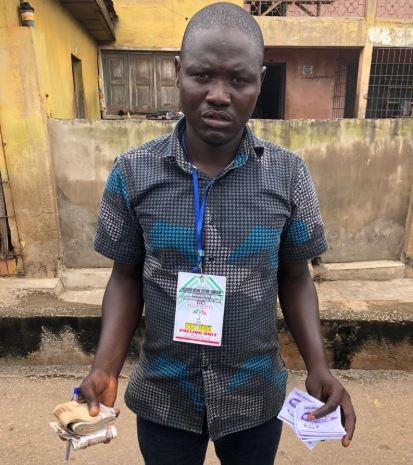 #OsunDecides2018: Another culprit arrested with N116,000 for vote buying (Photo)