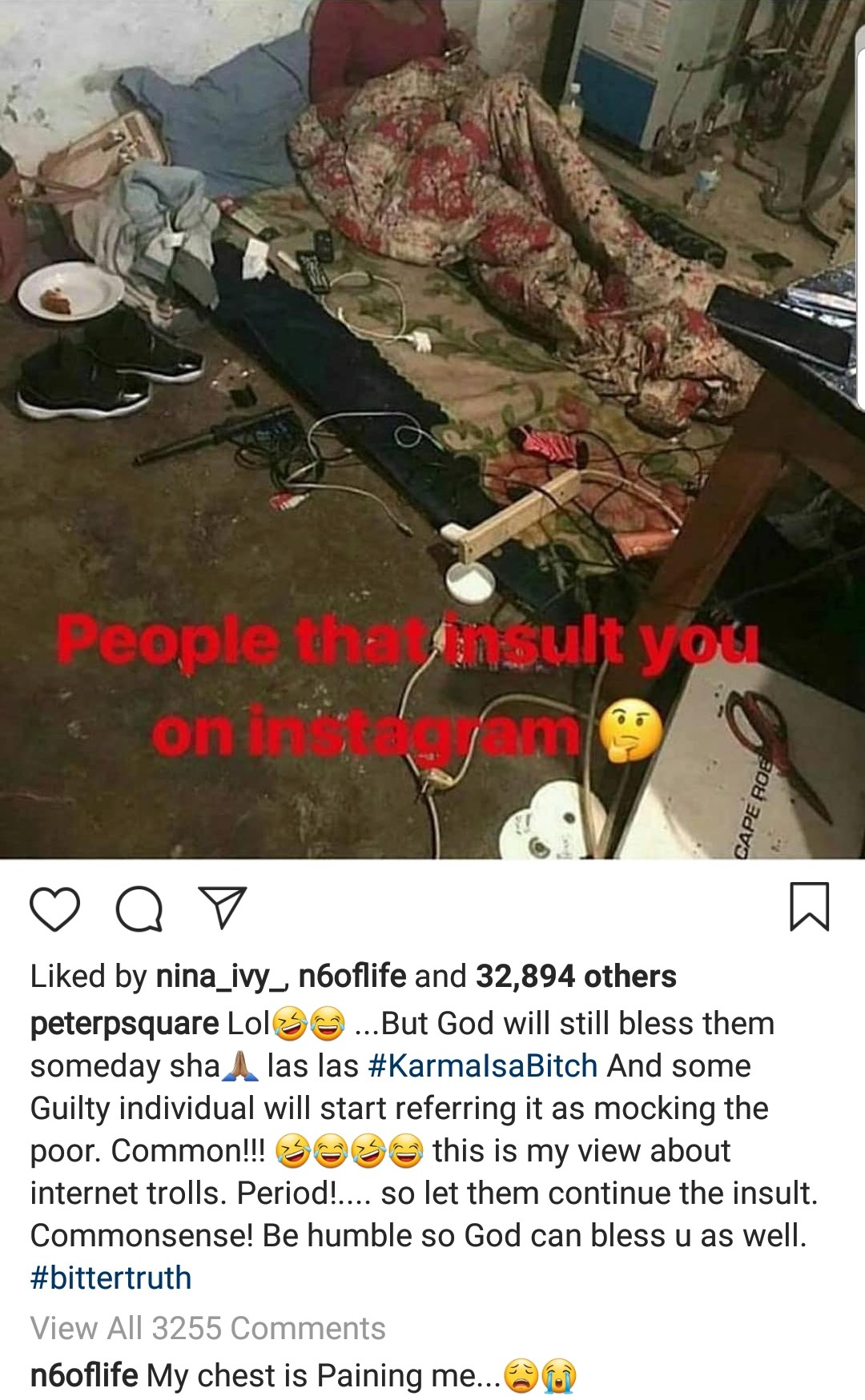 Peter Okoye and Police PRO Dolapo Badmus address trolls on Instagram with trending photo
