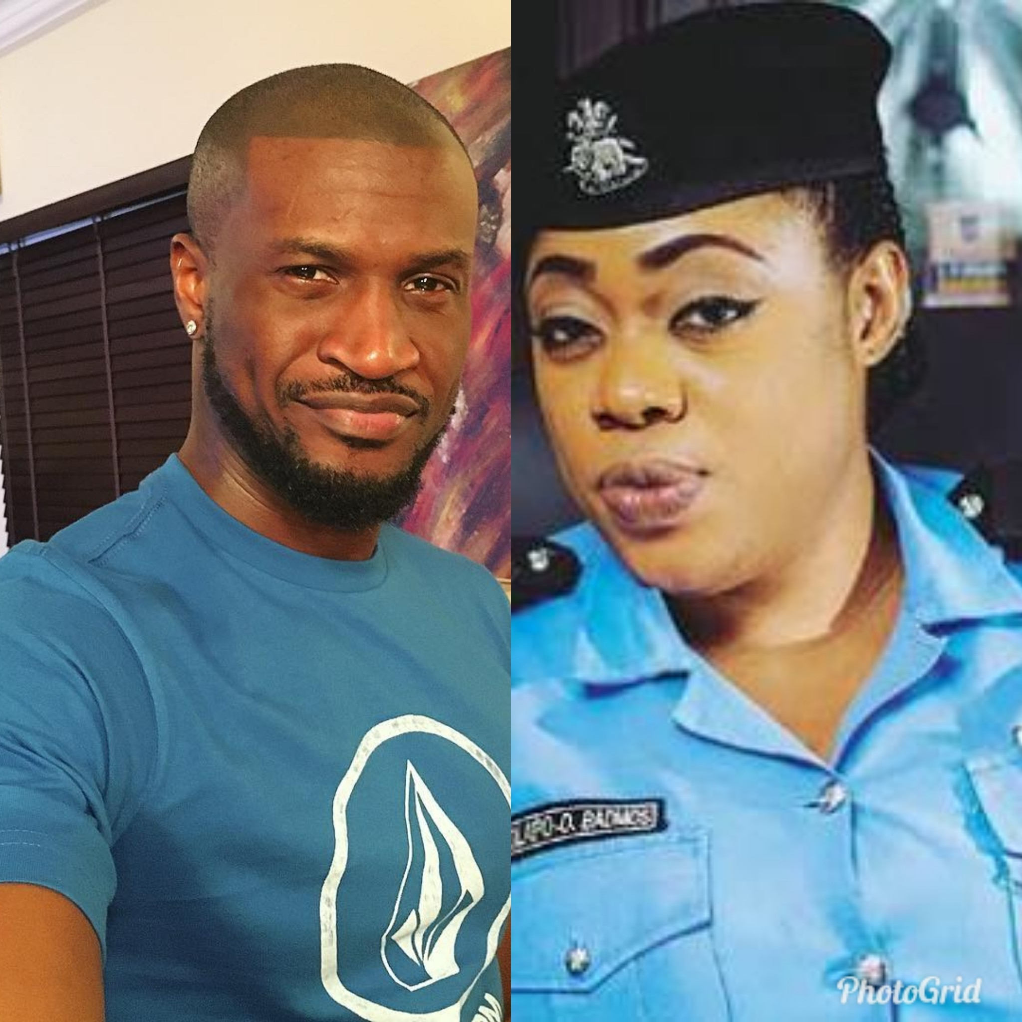Peter Okoye and Police PRO Dolapo Badmus address trolls on Instagram with trending photo