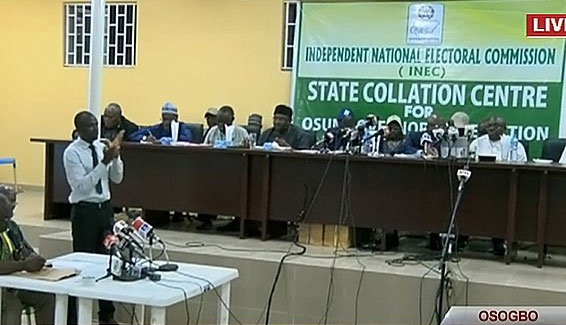 Breaking: INEC declares Osun governorship election inconclusive, to hold a supplementary election