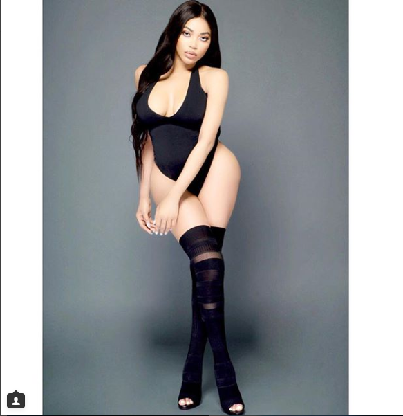 Dencia flaunts off her curves in black sexy swimsuit