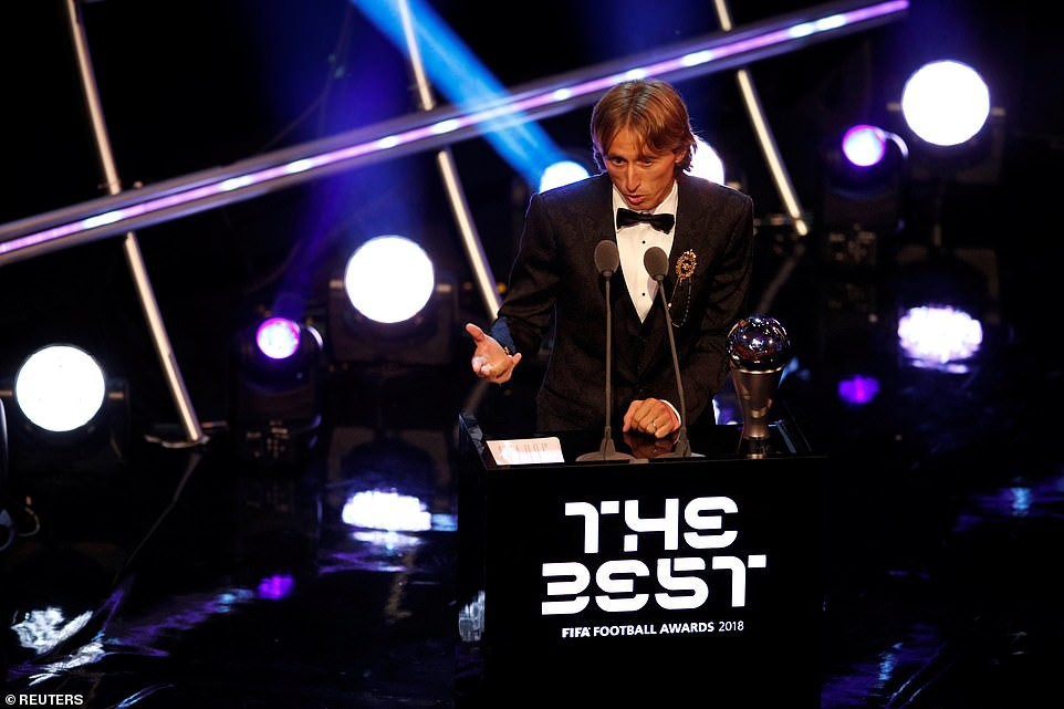 FIFA Best Awards 2018: Luka Modric wins Men