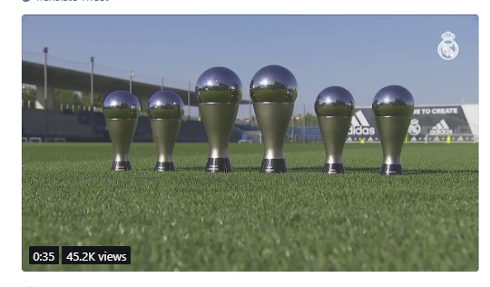 Real Madrid stars show off their awards at training after the FIFA