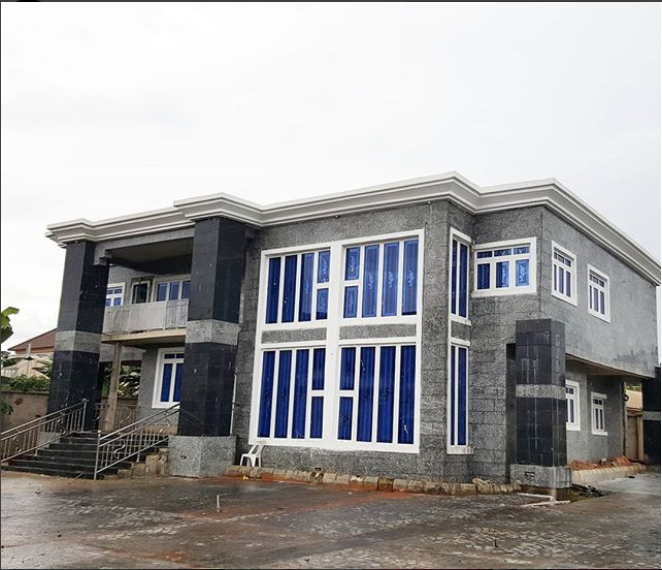 Nollywood actor Zubby Michael shows off his newly completed home