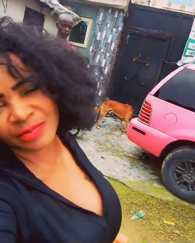 Cossy Ojiakor shares video of her flooded street and reveals her vote is for sale to anyone governorship candidate who can fix it (video0