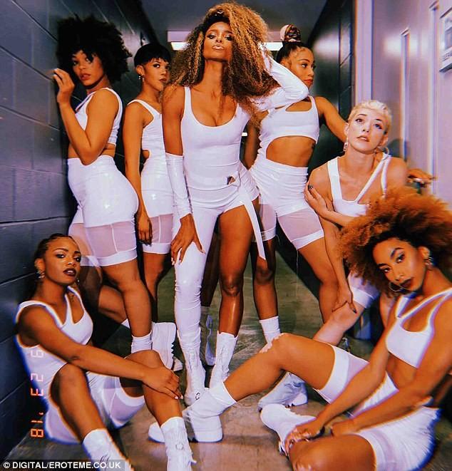 Ciara rocks sexy all-white ensemble as she joins Bruno Mars on tour as Cardi B
