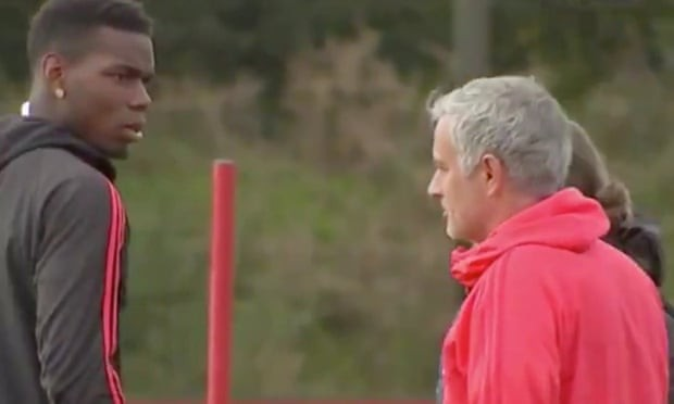 Video of Mourinho and Paul Pogba in a heated exchange during training session surfaces