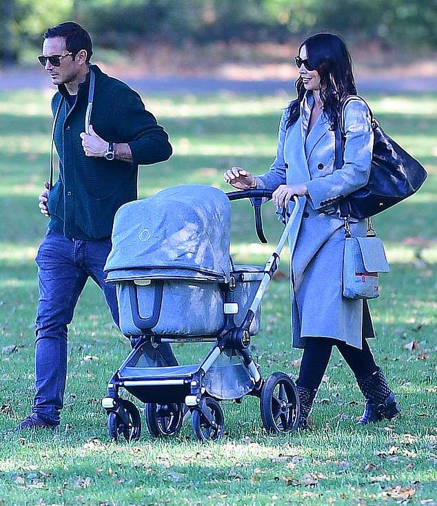 Frank and Christine Lampard step out with their newborn daughter Patricia (Photos)