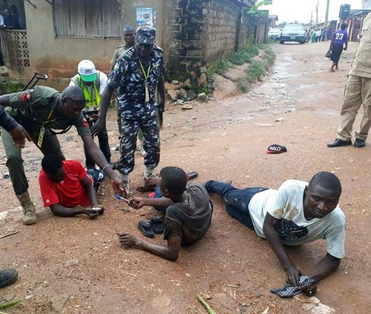 See Photos: OsunRerun: Police arrest three men for allegedly carrying charms and other banned substances