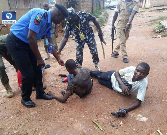 #OsunRerun: Police arrest three men?for allegedly carrying charms and other banned substances (Photos)