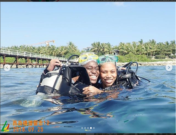 Super Falcons Stars Asisat Oshoala and Onome Ebi go scuba diving in China (Photos)