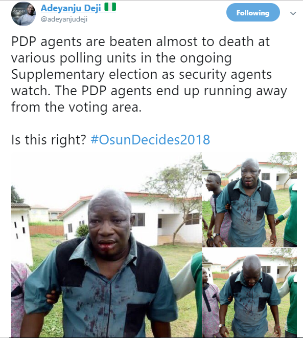 #Osunrerun: PDP youth leader reportedly killed as another is beaten up by thugs (photos)