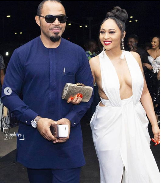 Actress Rosy Meurer goes braless in stunning white dress as she steps out with Ramsey Noah for