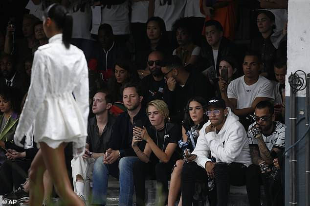Neymar attends Paris Fashion Week with glamorous girlfriend Bruna Marquezine (Photos)
