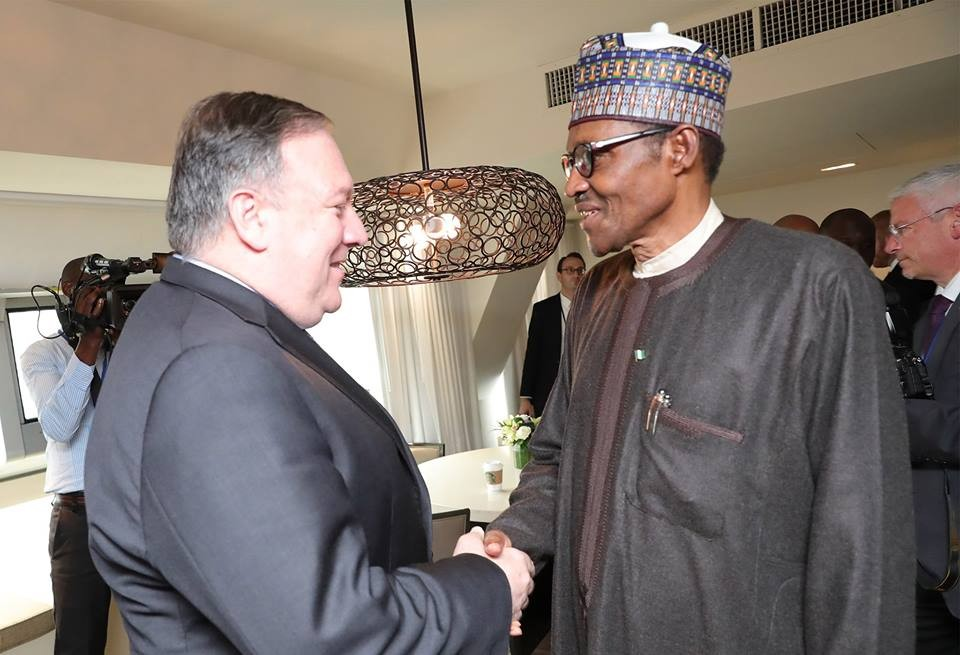 Photos: President Buhari meets US Secretary of States, Mike Pompeo