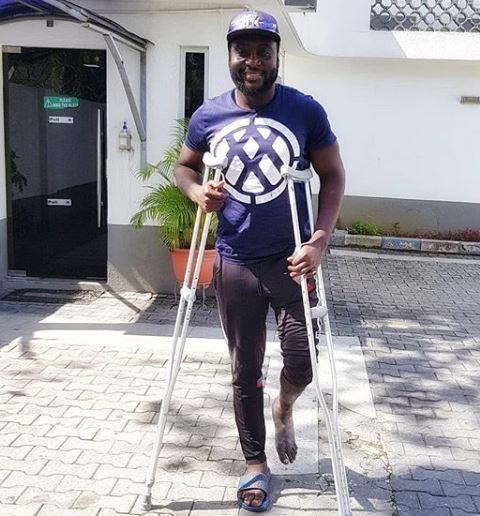 34 days after terrible car crash, Nigerian singer Djinee shares recovery photos