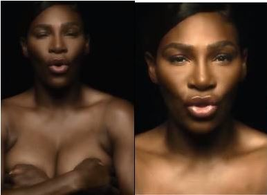 Professional tennis star player Serena Williams goes completely topless in heroic breast cancer video