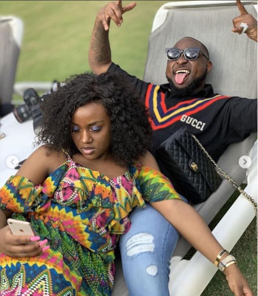 Lovely new photos of Davido and his boo Chioma?lounging together