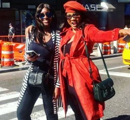 Omotola and her daughter could pass for sisters in these new photos