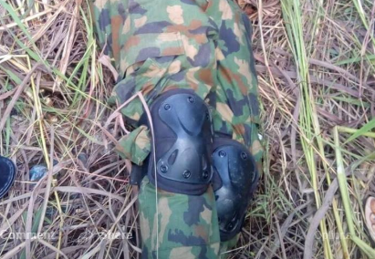 Photos: Armed robber kitted in military camouflage killed in Benue