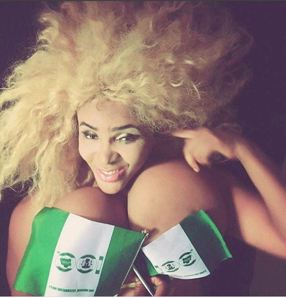 Cossy Ojiakor and her gigantic boobs celebrate Independence day?(Photo)