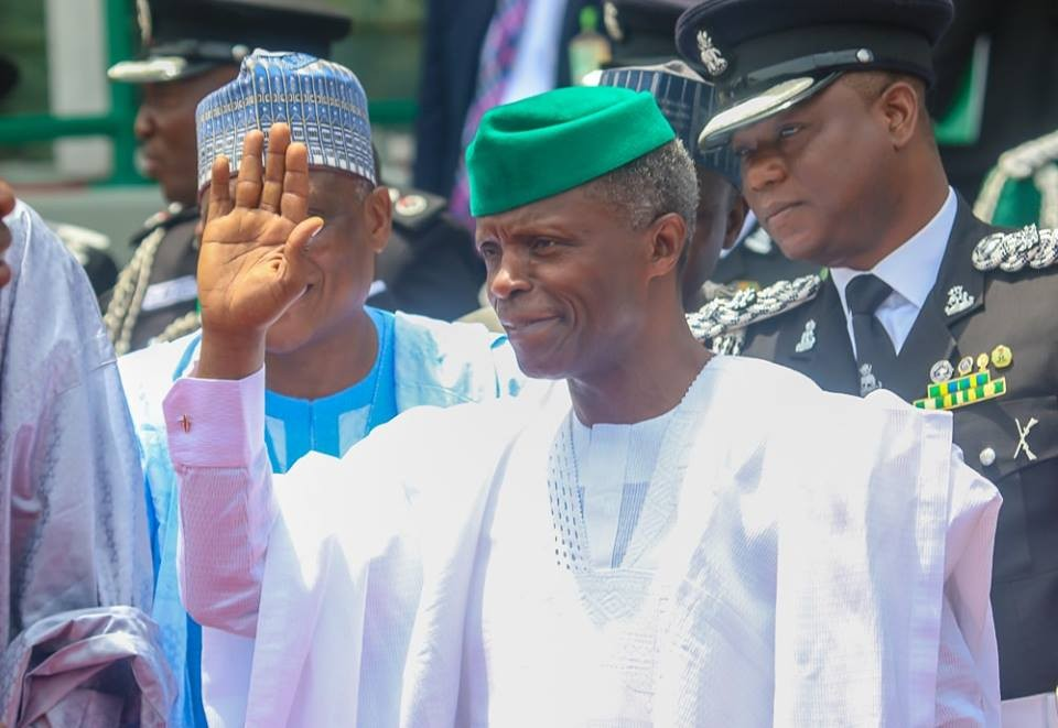 Photos: Buhari, Osinbajo, Gowon, Abdulsalam, others at the 58th Independence day celebration, Saraki & Dogara conspicuously absent