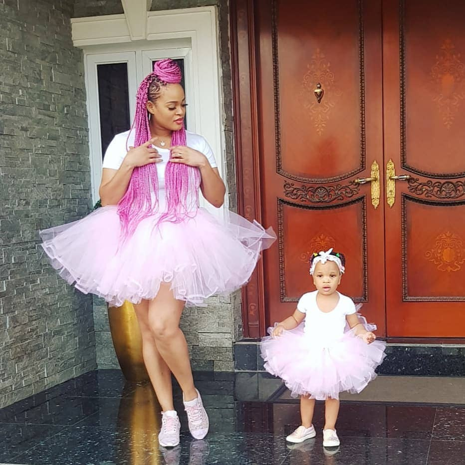 Lovely photos of Adaeze Yobo and her daughter