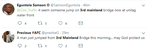 Man allegedly jumps off 3rd mainland bridge this morning