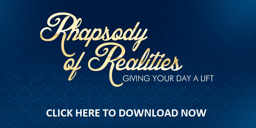 Rhapsody of Realities October Download. Get Wisdom, Get Success!