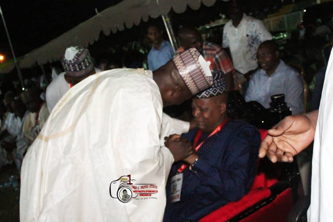 Photos: Borno state governor weeps at state APC governorship primaries
