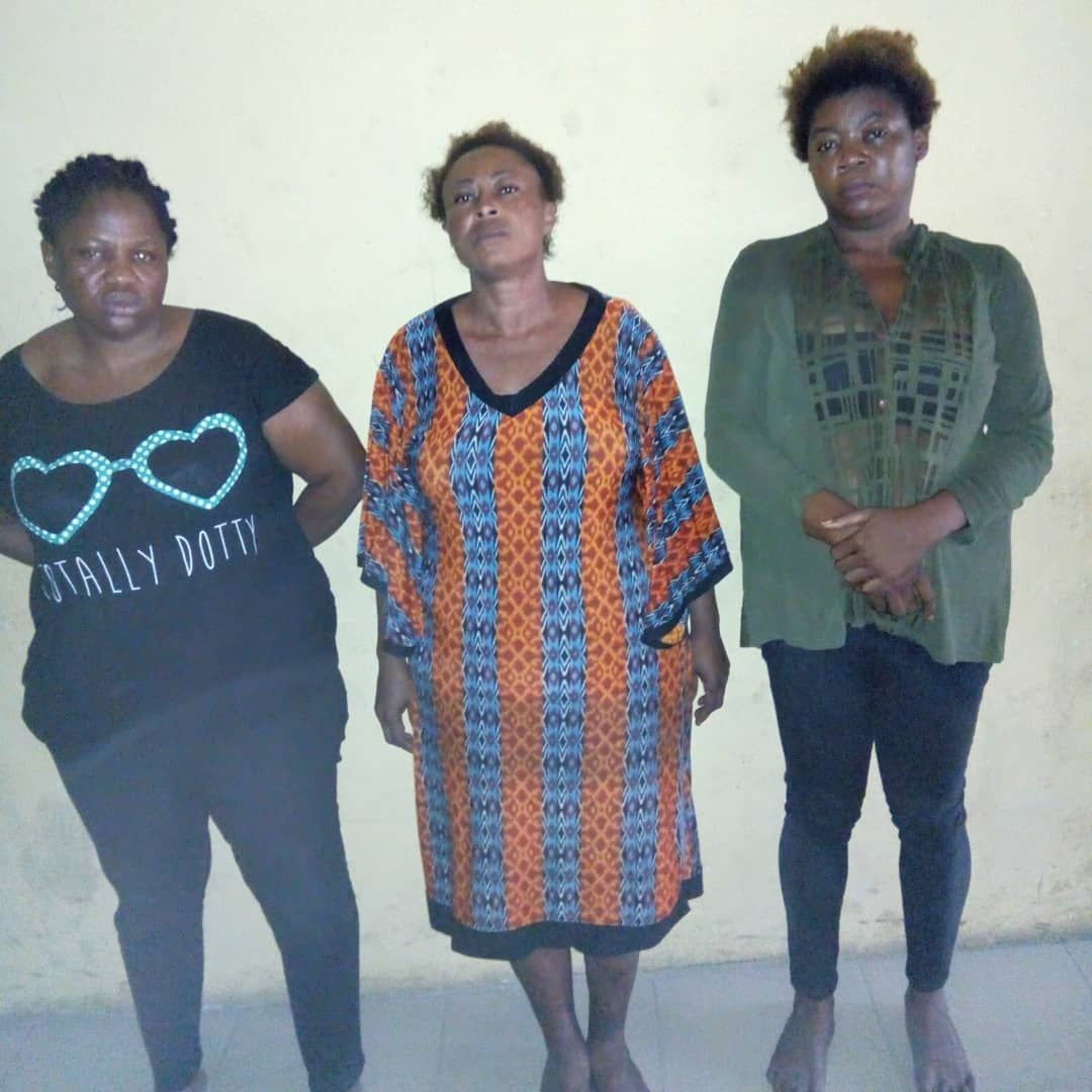 Photo: Child buying and selling syndicate who stole a 2-year-old girl arrested in Lagos