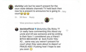Davido slams friend who mocked his uncle, Senator Adeleke over Osun State Election